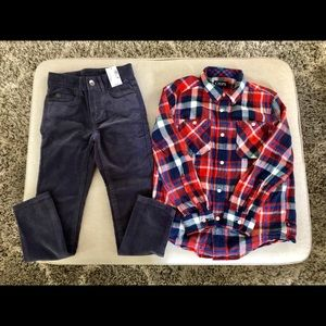 Chaps/The Children's Place outfit, Boy's size 6.